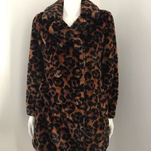 Coach faux fur wild beast coat NWT 00